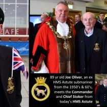 Ex Submariner Meets Commander of Today's HMS Astute