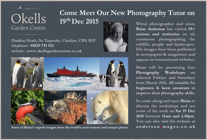 2016 Photography Workshops at Okells Garden Centre