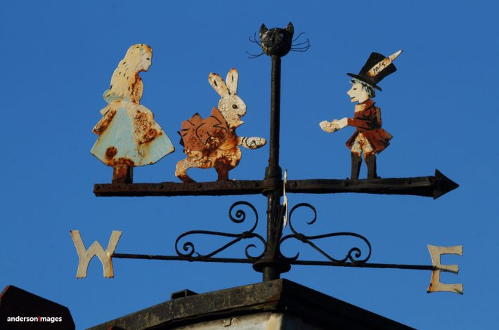 Alice in Wonderland Weathervane on the Way to Wilmslow